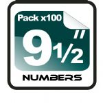 "9.5"" Race Numbers - 100 pack"